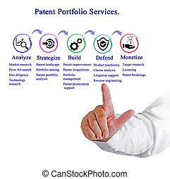 patente, cartera, servicios