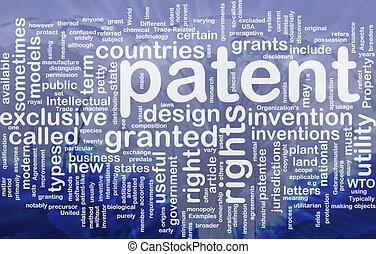 patente, conceito, fundo