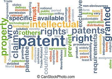patente, plano de fondo, concepto