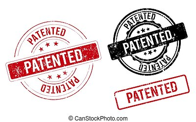 patented label. patented red band sign. patented. patented stamp