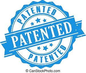 Patented seal icon - Patented seal vector icon