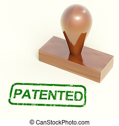 Patented Stamp Shows Trademark Patent Or Registered -...