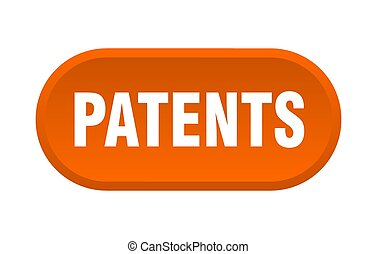 patents button. rounded sign on white background - patents ...