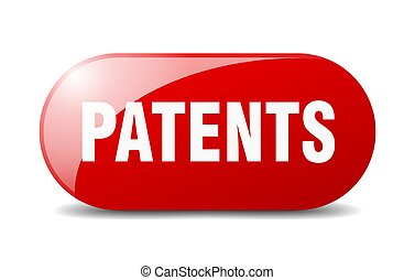 patents button. sticker. banner. rounded glass sign - ...