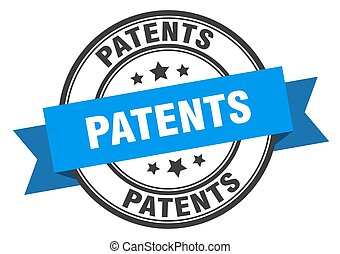 patents label sign. round stamp. band. ribbon - patents ...