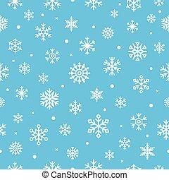 patern, navidad, vector, ilustración, seamless, snowflakes.