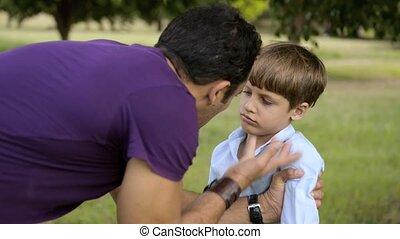 paternité, et, enfants, education