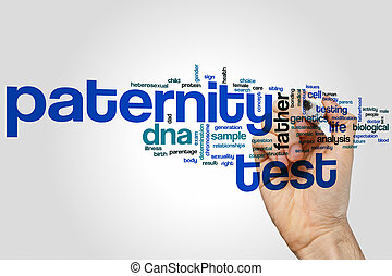 Paternity test word cloud concept
