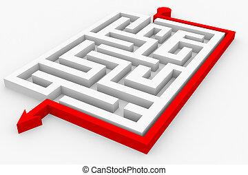 Path across labyrinth