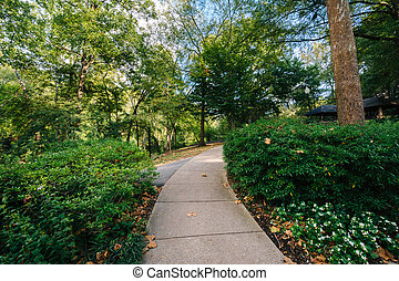 Path at the Falls Park on the Reedy, in Greenville, South Carolina.