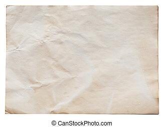 path., coupure, papier, vieux, isolé