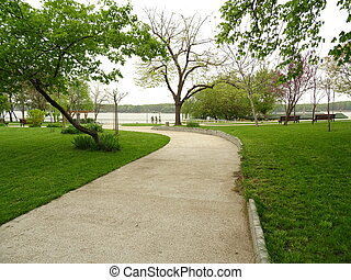 Path in a Green City Park