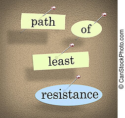 Path of Least Resistance Words Saying Quote Bulletin Board -...