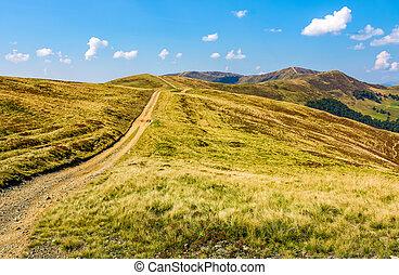 path on high altitude alpine hills - path on high altitude...
