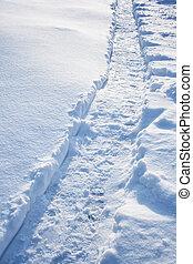 Path on the snow