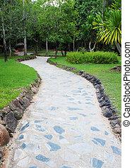 Path through a Green Garden