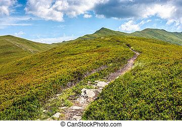 path through the mountain ridge