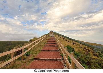 Path to religious monument, Azores