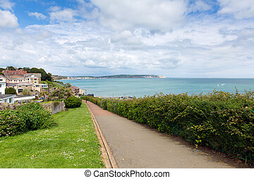 Path to seafront Shanklin IOW - Shanklin town Isle of Wight...