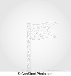 Path to success vector geometric polygonal background