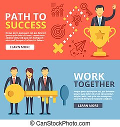 Path to success. work together