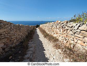 Path to the sea in Malta