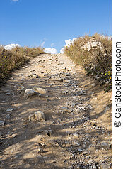 Path to the top of the mountain