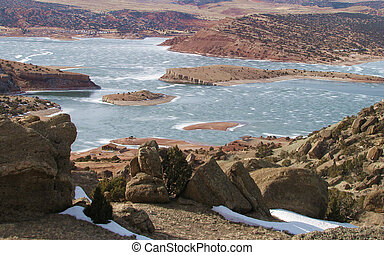 Pathfinder Lake in Central Wyoming