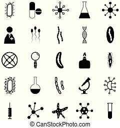 pathogen icon set
