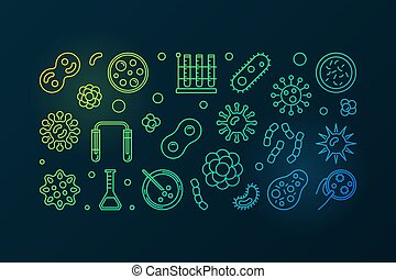 Pathogenicity colorful outline illustration. Vector pathogen...