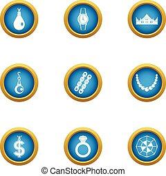 Pathos icons set, flat style - Pathos icons set. Flat set of...