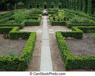 Pathway in a monastery garden