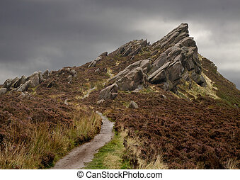 Pathway to the Peak - A few miles North of Leek in ...