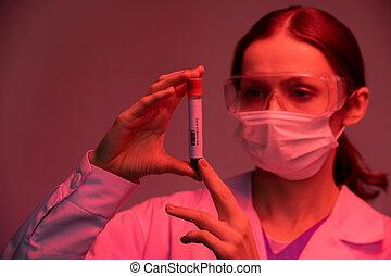 patiënt, bloed monster, infected, het onderzoeken