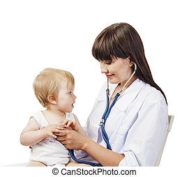 patiënt, kinderarts, arts