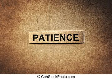 patience word with scratches paper - patience word with...