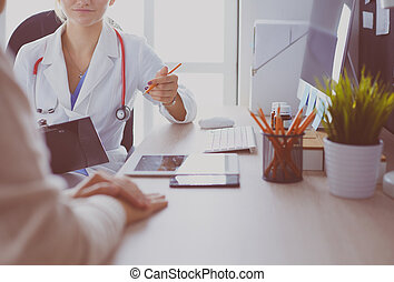 patient, anwendung, beraten, während, doktor, weibliche form, besitz
