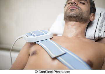Patient at  physiotherapy