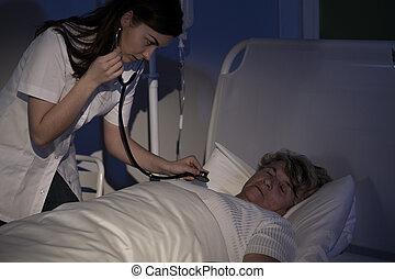 patient, ausculter