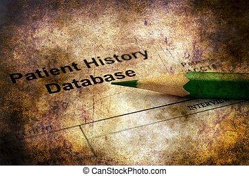 patient, concept, grunge, databse, histoire
