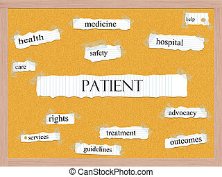 Patient Corkboard Word Concept