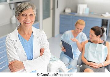 patient, dentaire, clinique, dentiste, professionnel, chirurgien