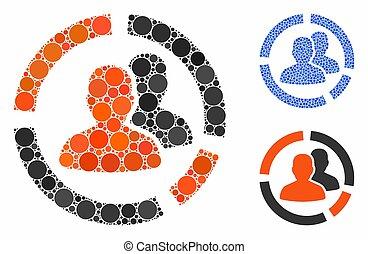 Patient Diagram Composition Icon of Circles