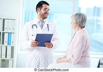 patient, dialoguer