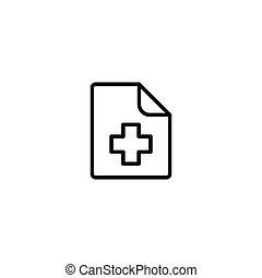 patient, disque médical, fichier, histoire, icône