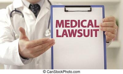 patient, docteur, fichier médical, provoquer, procès