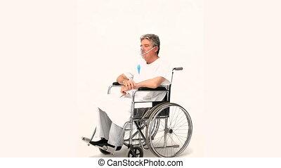 patient, fauteuil roulant