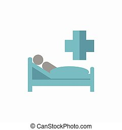 Patient Flat Icon - Patient. Medical Flat Icon. Vector ...
