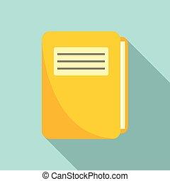 Patient folder icon, flat style