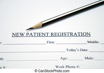 patient, form, registrierung